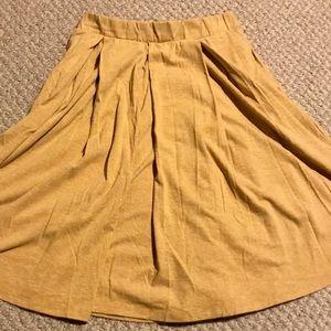 Yellow LuLaRoe Madison Skirt Medium